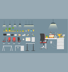 business workplace elements vector image