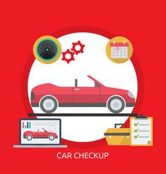 Car checkup conceptual design vector