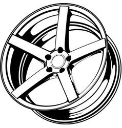 car wheel 18 vector image