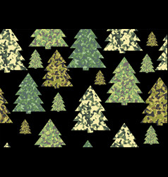 Christmas camouflage textures vector
