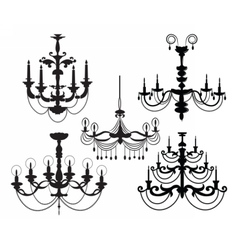 Classic Luxury black chandelier set vector image