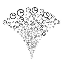 Clock fountain stream vector