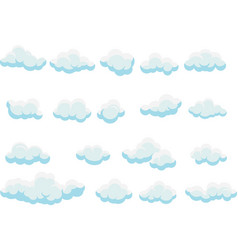 clouds collection set cartoon clouds clouds vector image