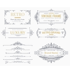 Collection vintage patterns vector