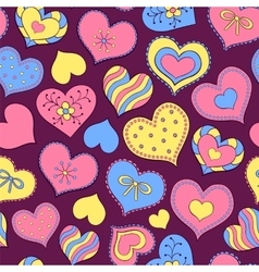 colorful valentine hearts vector image
