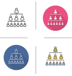 Company hierarchy icons vector image