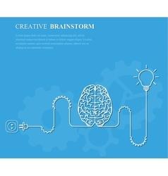 Creative brainstorm concept business idea vector