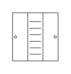 cupboard line icon vector image