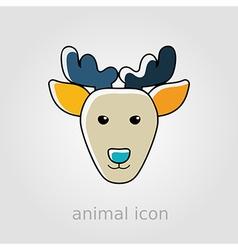 Deer flat icon Animal head vector