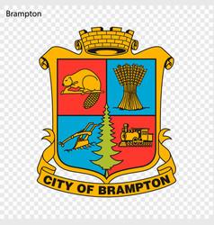 Emblem of brampton vector