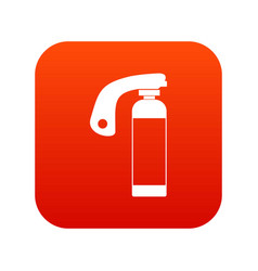 fire extinguisher icon digital red vector image