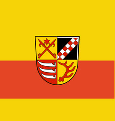 Flag of oder-spree in brandenburg germany vector