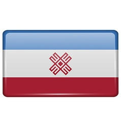 Flags Mari El in the form of a magnet on vector