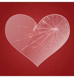 Glass broken heart vector image