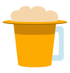hat shaped beer mug icon vector image