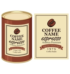 Label of coffe beans vector