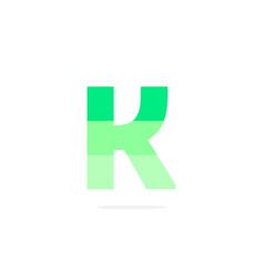 logo letter k green energy battery vector image