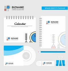 makeup logo calendar template cd cover diary and vector image