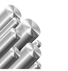 Metal cylinders on white vector