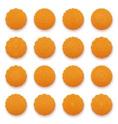 mooncakes set for mid-autumn festival vector image