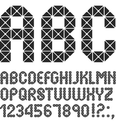 Mosaic original alphabet vector