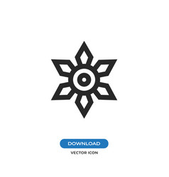 Ninja shuriken icon vector