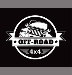 Off-road 4x4 extreme car adventure club vector