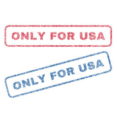 Only for usa textile stamps vector