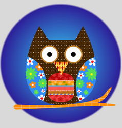 owl animal bird cartoon icon vector image