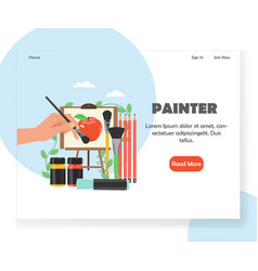 painter website landing page design vector image