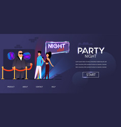 Party night bouncer face control man and woman vector