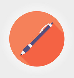 pen icon flat design vector image