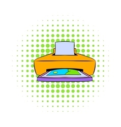 Photo printer icon comics style vector