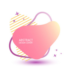 Pink stain with inscription abstract design vector