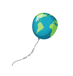 planet earth balloon vector image