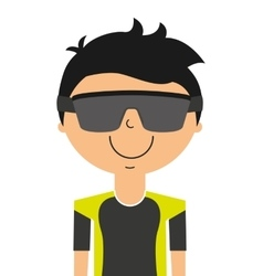 player avatar isolated icon design vector image vector image