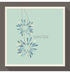 Poster with abstract pastel-colored snowflakes vector image