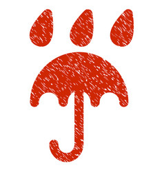 rain protection grunge icon vector image