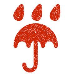 Rain protection grunge icon vector
