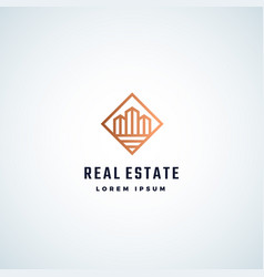 real estate abstract sign symbol or logo vector image