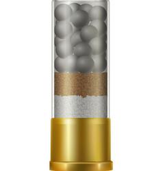 Realistic shotgun shell vector