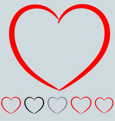 Red and other color heart in the art style vector