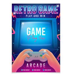 retro gaming game 80s-90s retro arcade game vector image