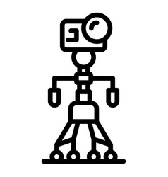 Robot tripod icon outline style vector
