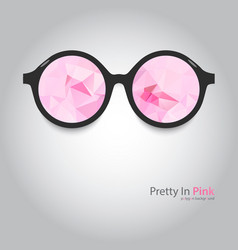 Round glasses with pink lenses vector