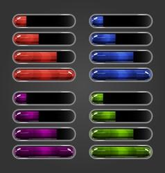 Set of bar downloader-4 vector