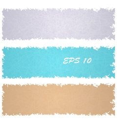 Set of grungy banners vector