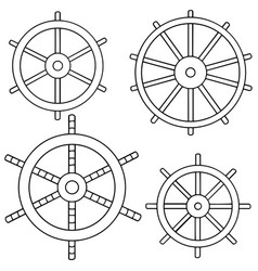 set of helm vector image