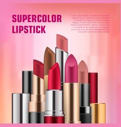 Set of lipsticks for ads vector