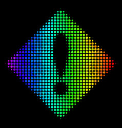 spectral colored dot error icon vector image
